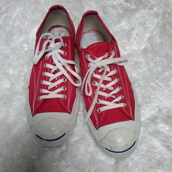 0d00a68ccaba2 RED CONVERSE Unisex JACK PURCELL TENNIS SHOES